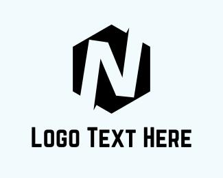 """Hexagon Letter N "" by AzamKreatif"