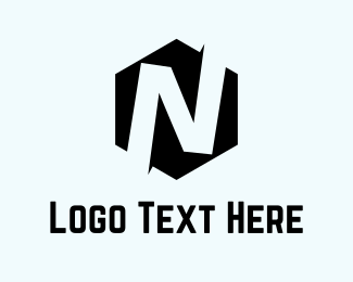 Showroom - Hexagon Letter N  logo design