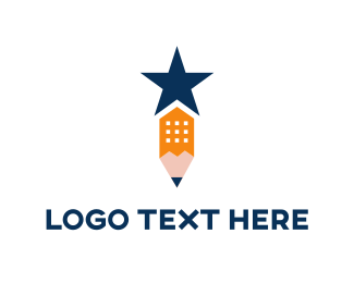 Classroom - Star Pencil logo design
