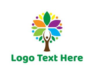 Colorful - Human Tree logo design
