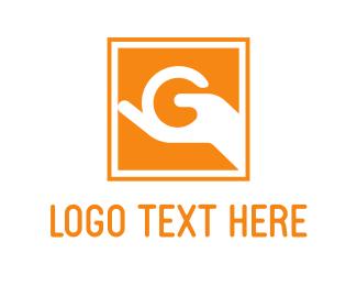 Give - Letter G Sign logo design