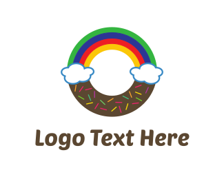 Sweets - Rainbow Donut logo design
