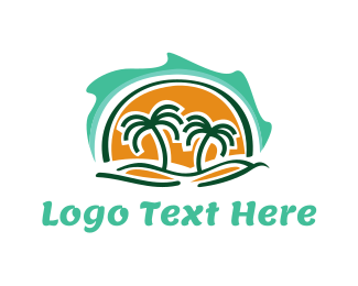 Palm - Waves & Palms logo design