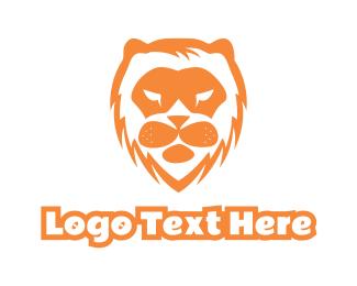 Lion - Abstract Lion Face logo design