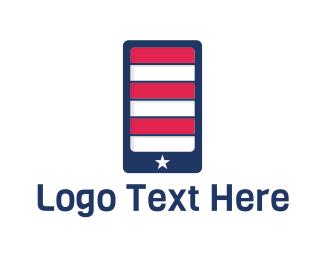 American - American Application logo design