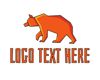 Bear - Orange Bear logo design