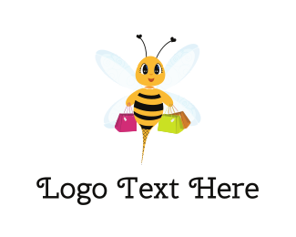 Shop - Shopping Bee logo design