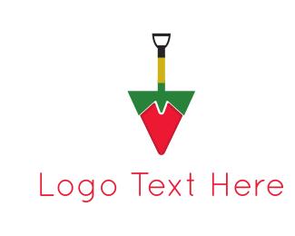 Spice - Shovel Pepper logo design