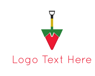 Chilli - Shovel Pepper logo design