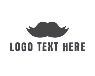 Hipster - Black Moustache logo design