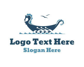 Water Sports - Horse Ship logo design