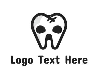 Halloween - Tooth Skull logo design