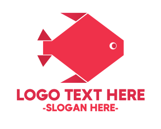 Origami Red Fish Logo