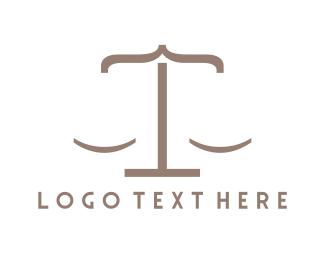 Court - Lawyer Code logo design
