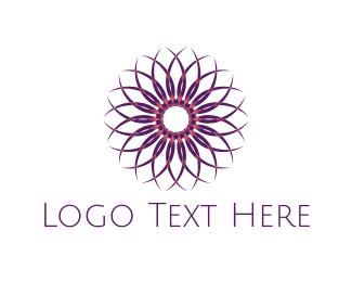 Mandala - Mandala Purple Flower logo design