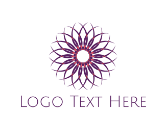 Mandala - Mandala Purple Flower logo design