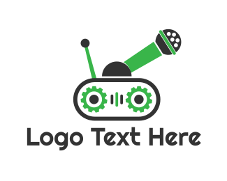Comedian - Audio Tank logo design