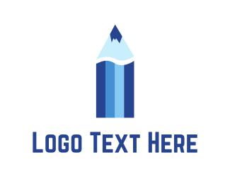 Retail - Blue Color Pencil  logo design