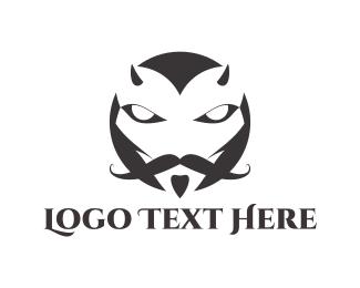 Barbershop - Elegant Devil logo design