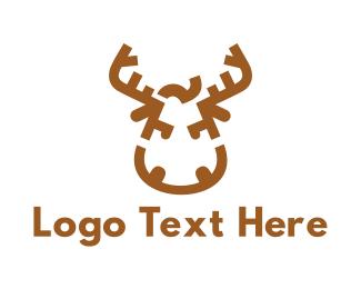 Christmas - Aggressive Moose logo design
