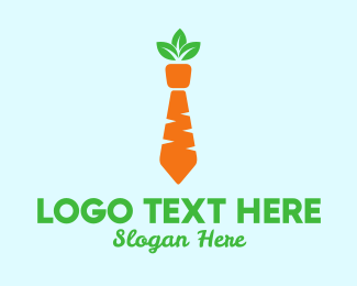 Grocery - Carrot Tie logo design