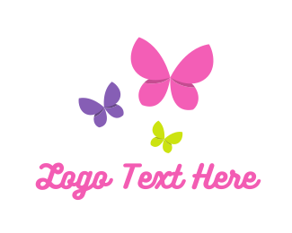 Butterfly - Flying Butterflies logo design