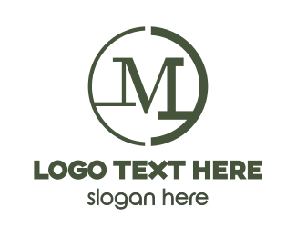 Army - Modern Green M logo design