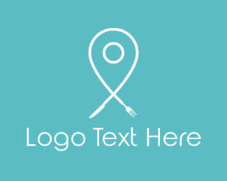 Location - Food Pin logo design
