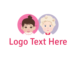 Childcare - Cute Babies logo design
