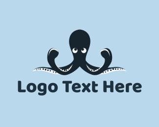 Submarine - Blue Octopus Mascot logo design