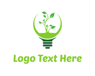 Green Eco Light Logo