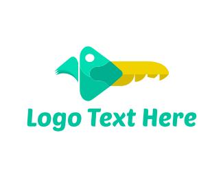 Real Estate - Parrot Key logo design