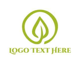 Leaf - Organic Leaf Circle logo design