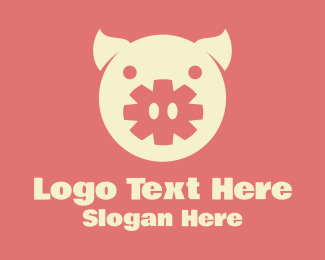 Farm - Asterisk Pig logo design