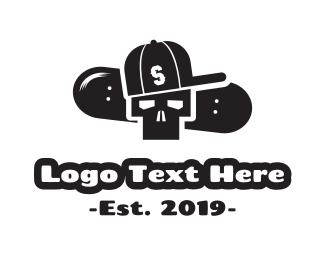 Skateboarding - Skater Skull logo design