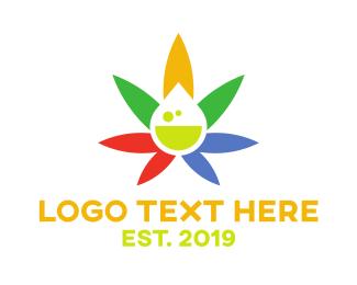 Ejuice - Colorful Cannabis Drop  logo design