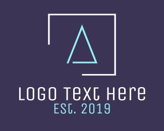 Tiling - Minimalist A Square logo design