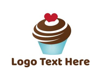 Muffin - Chocolate Cupcake logo design