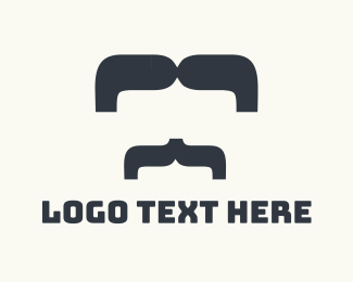 Gentleman - Big Moustache logo design
