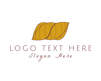 Tobacco - Wrapped Leaves logo design