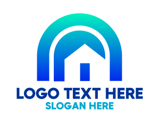 Arch - Blue Arch House logo design