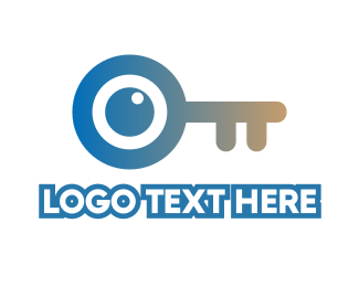 Eyeball - Monogram Key Lens logo design