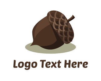 Acorn - Brown Acorn logo design
