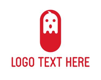 Red Ghost Capsule Logo