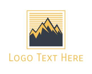 Frame - Mountain Frame logo design
