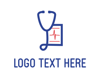 Medical Services - Blue Stethoscope logo design