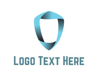 Safeguard - Ribbon Shield logo design