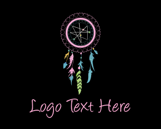 Religious - Pink Dream Catcher logo design