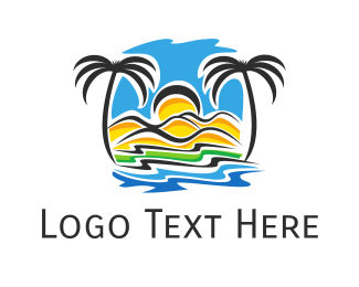 Oasis - Tropical Shore logo design