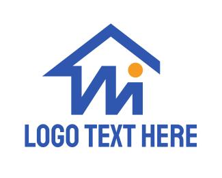 Carpenter - Basic M House logo design